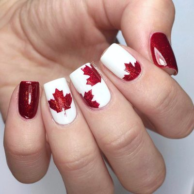 Celebrate your upcoming Canadian holidays in style with these cute maple leaf stencils 🍁