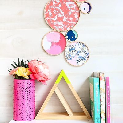 Need a crafty project? Visit the link in bio to see how @kailochic took some of our past and present plates to make wall decor with embroidery hoops. #DIY