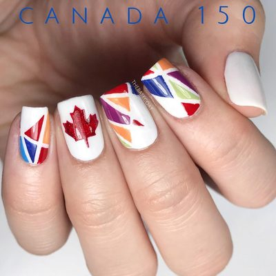 Canadas 150th anniversary is this year! How will you be celebrating? 🇨🇦🇨🇦 Get this maple leaf stencil for 50% off with the code 'CANADA150' 🍁 link in bio . . . #canada150 #canadaday #canadadaynails #canada #notd #nails #nailart #polishednails #nailpolish #manicure #thebasecoat #nailvinyls #love #beauty #fashion #instadaily #igers #art #amazing #style #makeup #instalove #nailitdaily #simplynotlogical #sgnailartpromote #nailartwow #nails2inspire #craftyfingers