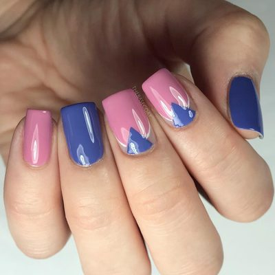 How millennial! rose quartz & serenity with just a dash of geometric angles. Created with the stacked arrow stencils from my shop! Link in bio ~~~ . . . #rosequartz #millenialpink #chevronnails #notd #nails #nailart #polishednails #nailpolish #manicure #thebasecoat #nailvinyls #love #beauty #fashion #instadaily #igers #art #amazing #style #makeup #instalove #nailitdaily #simplynotlogical #sgnailartpromote #nailartwow #nails2inspire #craftyfingers