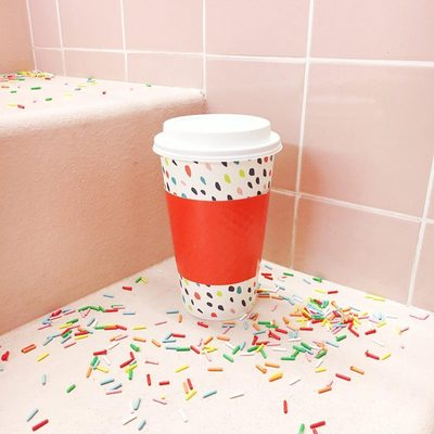 Coffee with a side of confetti and sprinkles? Yes, please!  It's your last chance to get our @britandco for Cheeky hot cups - only $3.59 for a 10-pack at Target. Buy via the link in bio. #britgetscheeky