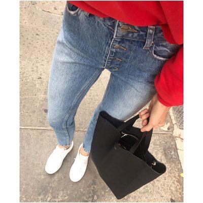 Will never take them off. New favorite denim. The Frida Jeans in light blue❥ #aninebingdenim