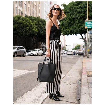 Exploring Downtown LA in my new stripes ▪️▫️ #aninebing