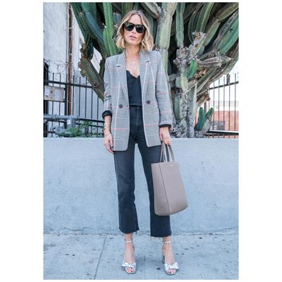 Madeleine Blazer, Silver Bow Sandals & a busy day of meetings.. #lovemyjob #aninebing