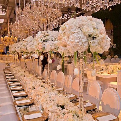 SWOON! An enchanting wedding reception perfected with delicate floral centerpieces! Planner: @myeventdesign . . . #flowers #weddinggoals #luxurywedding #dreamwedding #fairtytalewedding #weddingideas #outdoorwedding #weddingdecor #weddingplanning #realwedding #bridal #bridalinspo #gettingmarried #futuremrs #engaged #weddingvenue #reception #style #StrictlyWeddings