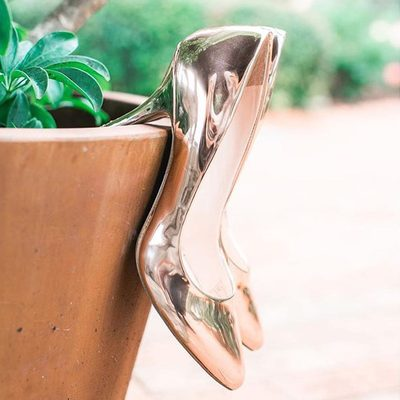 Imagine stepping out and seeing your #weddingdress reflection in these #rosegold chrome stunners. Photo: @hannahqphotography #weddingshoes . . . #bridalshoes #destinationwedding #travelgram #shoesoftheday #dreamwedding #weddinginspo #teambride #bridalfashion #instalove #heels #justaddsole #ido #bride #shoes #shoeshopping #instashoes #dreamshoes #gettingmarried #elegant #bridalideas #StrictlyWeddings