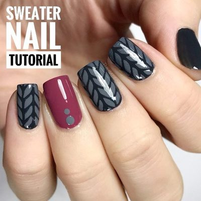 Happy Saturday! I uploaded the full length of this tutorial to YouTube and I would really love it if you went to check it out there (: you can search for me on YouTube as TheBaseCoatDotCom or go to the link in my bio and select YouTube from the menu! . . . #nailtutorial #nailvideos #nailvinyls #nailstencils #youtube #sweaternails #pinknails #greynails #herringbonenails #nails #nailpolish #polish #polishednails #ottawa #ottawablogger