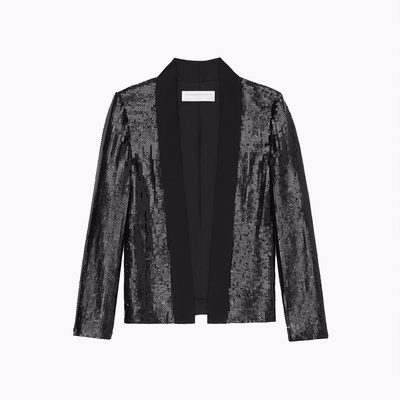 Add nostalgic glamour to your holiday wardrobe with this new season VVB sequin tuxedo-style jacket!  Head to my website or visit 36 Dover Street, London to pick up your NYE outfit! x VB #KissesAtChristmas victoriabeckham.com #VBDoverSt