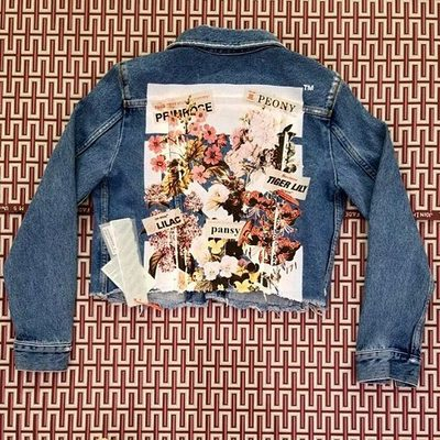 Women's @off____white SS'18 denim jacket available online and  at our South Coast Plaza and South Beach locations! #TheWebster link in bio!
