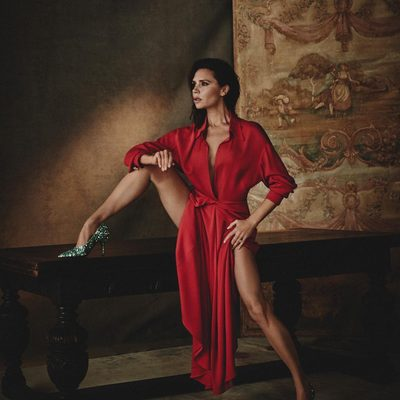 Wearing my #VBSS18 Twist Yoke Midi dress and Dorothy pumps in this month's @voguespain - both are available for exclusive pre-order at my website now x VB #VogueFebrero