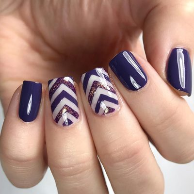 I've been dying to use this @londontownusa purple in nail art! It's so opaque and creamy. I created this look with the Stacked chevron stencils - the best part is that the chevrons are already spaced out! . . . #nailart #nails #nailsofinstagram #nailpolish #nailstencils #nailvinyls #chevronnails #purplenails #londontownusa #opi #essie #ottawa #ottawablogger #polish #nailstagram #naildesigns