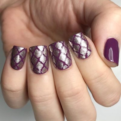 Gold quatrefoil over this beautiful purple I shared the other day! The purple is @sallyhansenca Trouble Maker. You can find the quatrefoil stencils at the link in my bio! . . . #sallyhansenca #sallyhansen #nailart #nailvinyls #nailstencils #nailartclub #nailartohlala #purplenails #quatrefoilnails #valentinesnails #nailsofinstagram #nails2inspire #nailartwow #nailpolish #nails #nailartlove #nailitdaily #nailsoftheday #notd #ottawa