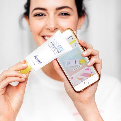 Scrolling through Insta, checking your emails, texting your BFF - the light from your phone can cause skin damage and signs of aging. Luckily, Unseen Sunscreen is here to save the day. #butfirstsunscreen #dontgounseen