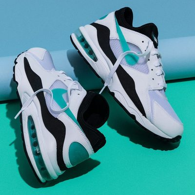 "Back in 1993, the Air Max 93 was a massive step forward for Nike Air Technology as the first sneaker to introduce 270 degrees of exposed Air. Now that it's back in the original ""Dusty Cactus"" colorway for the first time in almost five years, it's flying high on the hype of other sock-like sneakers and looking better than ever. #SneakeroftheWeek (📷 @mattymarty)"