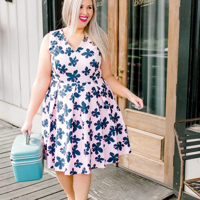 We like our clothes A.S.A.P. (As Southern As Possible) 😉👒 Atlanta blogger @ashley_dorough wears the #ELOQUIIxDraperJames Hibiscus Fit and Flare Dress #XOQ