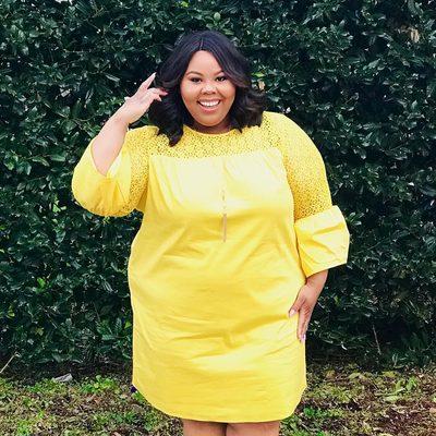 Dreaming of sunny Southern days in #ELOQUIIxDraperJames ☀️ @adriennenicholexo wears the Lace Yoke Shift Dress in Butterscotch #XOQ