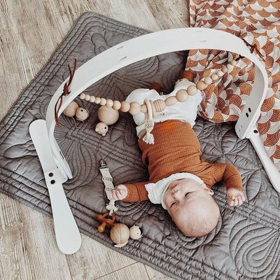 One product can be used in multiple ways.  Our Finn + Emma play gyms allow you to remove and attach all our different toys as well as others you have at home. @christine_simplybloom  #finnandemma
