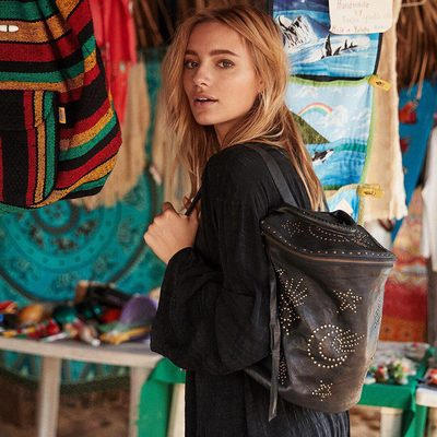 IT'S HERE ✨ We joined forces with @cleobella to create a dream collection of bags designed to carry peace, love and light through every step of your journey 💞 Head to our Story or link in bio to shop #wanderwithlove  #SGxCleobella #happyspring #spiritualgangster