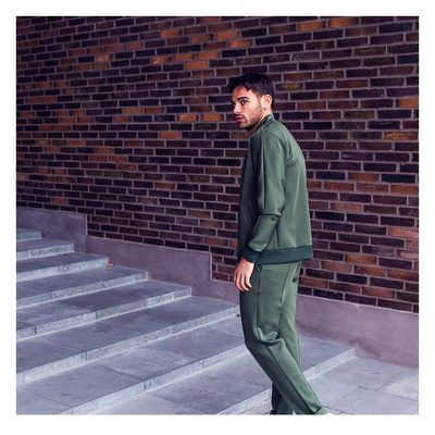 The Hermite track jacket and pants gives the sport-luxe look a tailored touch, taking your style to the next level. #tracksuit #sportyfeel #mensstyle #mensfashion #lesdeux