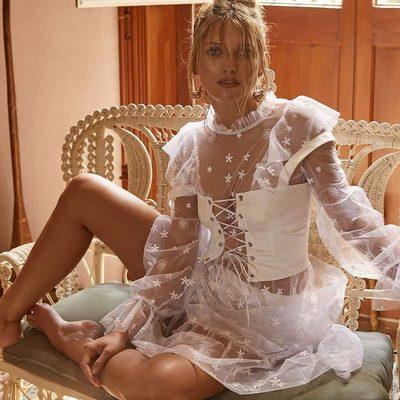 Like a dream 🏹 The Claudia Ruffle Midi Tulle Dress, Poppy Lace Up Corset & Daisy Eyelet Snap Up Panty