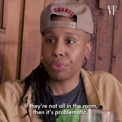 """It's about opening a door for other people to walk through."" Alongside @DimeDavis, V.F. cover star @LenaWaithe discusses the necessity of inclusion in Hollywood and ""making shit that's undeniable."" Watch the full video at the link in bio."