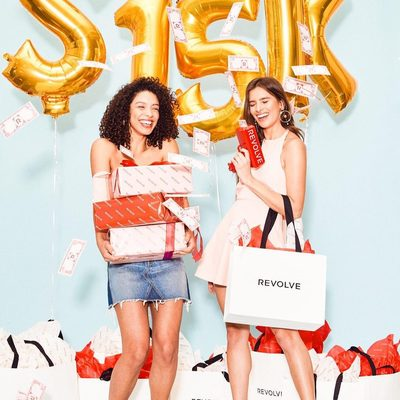 """💸 15 YEAR ANNIVERSARY SWEEPSTAKES! 💸 Win a $15,000 gift card to shop on REVOLVE.com for you & your BFF! Here's what you do:  1.TAG your BFF & have them TAG you back in the comments below 2.BOTH you and your BFF LIKE this pic & 3.BOTH you and your BFF FOLLOW @revolve with your publicly viewable Instagram account.  The winner and his/her BFF will each receive a $7,500 gift card to shop on www.revolve.com. The sweepstakes begins at 10:00 a.m. Pacific Time (""""PT"""") on 3/6/18, and ends at 10:00 p.m. PT on 3/20/18. No purchase or payment necessary to enter or win. A purchase will not increase your chances of winning. Odds of winning depend on the number of eligible entries received. One winner will be randomly chosen among all eligible entrants who are persons who follow the steps listed above or enter via the alternate mail-in method of entry, are legal residents, physically located within, the 50 contiguous U.S. or D.C. (excluding Rhode Island), not employed by Eminent, Inc. or its affiliates and are age 18 or o"""