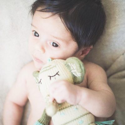 Mom's will tell you that baby's get obsessed with their Finn + Emma Rattle buddies. They quickly become babies favorite toys.  You may want to buy more then one so they can play with the second one while the first is being washed.  All our rattle buddies are hand knit and stuffed with lambs wool.  No toxic chemicals in our little buddies @gabriela__vv #Finnandemma
