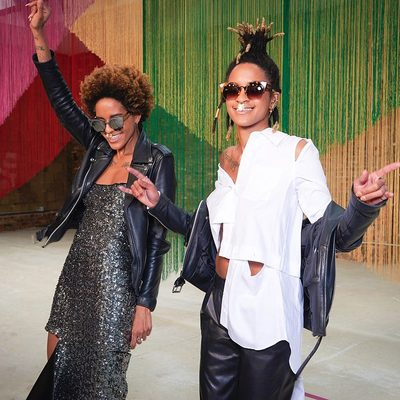 The flyest twins out there...@cocobreezy livin' it up in head to toe MILLY #twins #MILLYfall18 #millymoment