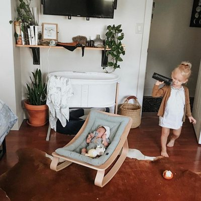 Have you seen the newest addition to the Finn + Emma family?  The wood rocker can be purchased on our site.  Go to the link in our bio and click on this picture.  It's the perfect place for your little one to relax for a while. @senaenelson #finnandemma