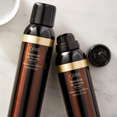 Mousse tends to get a bad rap, but they've come a long way since the crunch-creating formulas of decades past. We love how @oribe Grandiose Hair Plumping Mousse gives bombshell body to even to the most fine, flat hair. Just work a golf ball-sized amount through your palms, then run through damp strands.