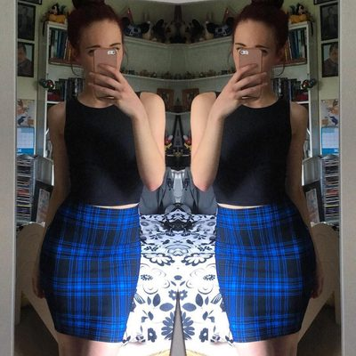 We're seeing double! 😍 Tap to see more @e.squidy #blackmilkclothing #blackmilk #bmtartanpunkbluepencilskirt  #pencilskirt #tartan #bluetartan #skirt #ootd #fashion