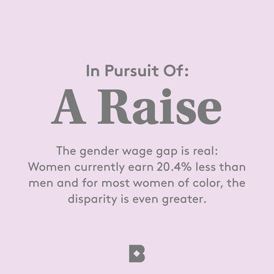 """Raise your hand (HIGH) 🙋🏻 if you don't think you're making the salary that you deserve. In our latest installment of """"In Pursuit Of"""" we're offering ways you can tackle this tricky topic to go after that raise so women can finally bridge the gender wage gap once and for all."""