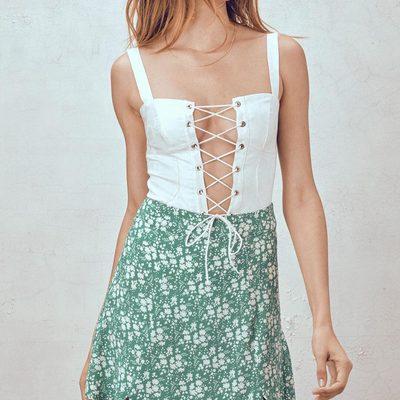 Better together 💘 The Poppy Corset Bodysuit & Zamira Floral Skirt