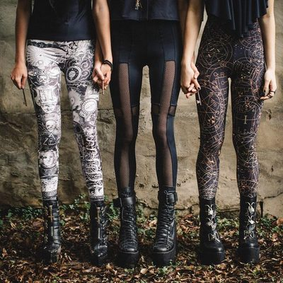 The sisterhood of the shiny pants 👌 Our next collection - Order of the Secret Skulls drops at 7am (AEST), Tues April 24 #blackmilkclothing  #blackmilk #comingsoon