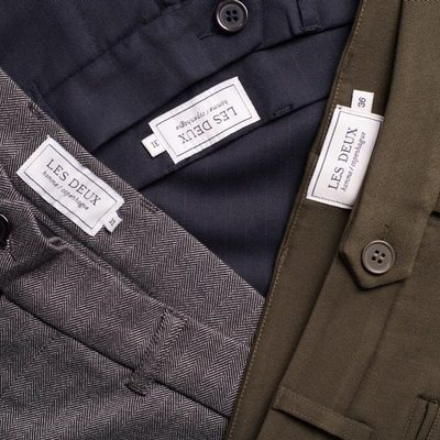 Our pants are made to give you the most comfortable fit. They come in different styles and colours, to match every look. #lesdeux #suitpants