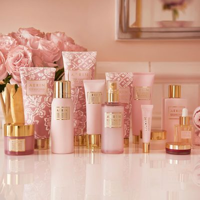 Reveal calm and radiant skin with the signature #AERINbeauty floral infusion of Pink Rose, Magnolia Flower, Peony and Meadow foam extracts from the Rose Collection. Shop these bath & body essentials via the link in bio.