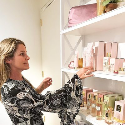 The new AERIN Rose collection has just arrived at the office. My favorite is the Rose Revitalizing Foaming Facial.. #AERINbeauty