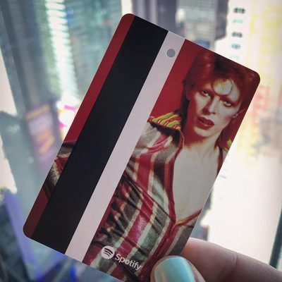 Who wants a David Bowie MetroCard? Get one at the Broadway-Lafayette station, and see the new artwork there at the link in our bio! (📷 @rebeccaefontana)