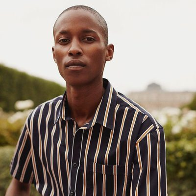 Our Verrier shirt is a beautiful combination of iconic stripes and comfortable design. A perfect shirt for warm summer events. #lesdeux