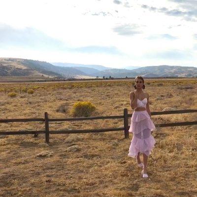 Like a dream ✨ @josephineskriver  The Dorothy Crop Top & Ruffle Midi Skirt