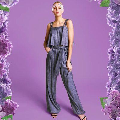 💙 DENIM ON DENIM 💜 Shop the full look on MILLY.com (link in bio) #millymoment #wildflower #denim