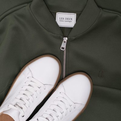 Our latest design is the new luxury Hermite tracksuit. That can be worn with a casual t-shirt, or a classic Windsor oxford shirt. #lesdeux #tracksuit #trackjacket