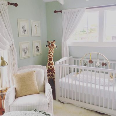 Nursery inspiration alert: the ideal gender neutral nursery.  Our playgym fits in perfectly. @twotinypalms #finnandemma