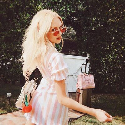 ✌️❤️ @peaceloveshea in the orchid mini #bybabesforbabes