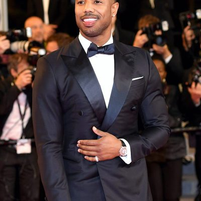 Red carpet style doesn't get any better than @MichaelBJordan in #Cannes wearing a @giorgioarmani double breasted tux with a blingy-but-not-too-blingy @piaget watch. More of our favorites from #Cannes at the link in bio.