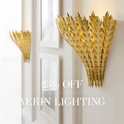 Light up your long weekend... All #AERINlighting is 25% off on AERIN.com