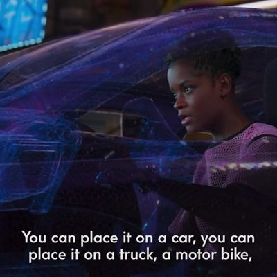 #BlackPanther's @LetitiaWright is here to break down the latest in Wakandan technology. At the link in bio, she teaches you all about the panther suit, magnetic levitation trains, Kimoyo beads, and more of Shuri's brilliant innovations.