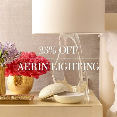 Last chance to get 25% off all #AERINlighting on AERIN.com. Sale ends tonight.
