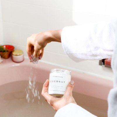 Idea: Morning baths.💡Who's into it? #coconutmilkbath #morningbath #relax