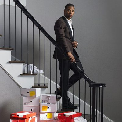 Sneaker aficionado @teamvic shows off his renowned collection of kicks with photographer @MosesBerkson, produced in partnership with @Saks. #IBDL #SaksStyle